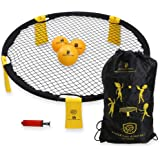 B BOCHAMTEC Strikeball 3 Ball Game Kit - Includes Playing Net, 3 Balls, Carring Bag, Rule Book- Game for Boys, Girls, Teens,