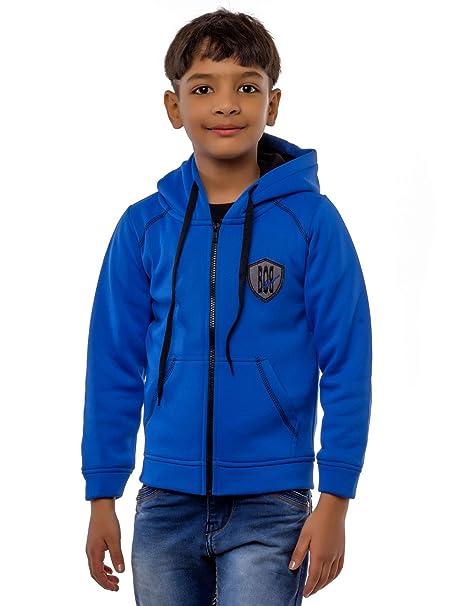 af0812641 BOB Kids Winter wear Sweatshirt Jacket for 11-12 Years Boys. Royal Blue