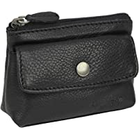"""Gusti Cuir studio """"Sascha"""" trousse pour clés porte-clés pochette pour clés étui à clés homme femme cuir de buffle noir 2A91-22-9"""