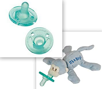 Amazon.com: Wubbanub Chupete it s a Boy y 2 de peluche ...