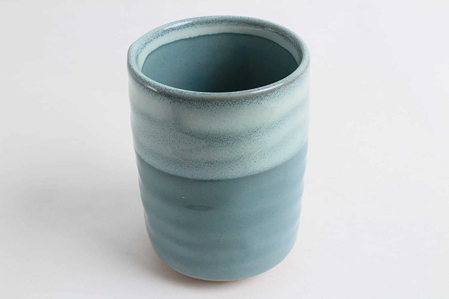 YAY047 Japan Import Mino ware Japanese Ceramics Sushi Yunomi Chawan Tea Cup Large Sky Blue /& Sapphire Blue Made in Japan