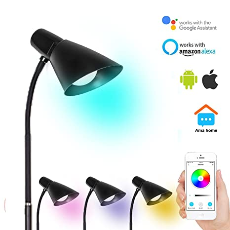Smart Floor Lamp Dimmable Multicolored Color Changing LED