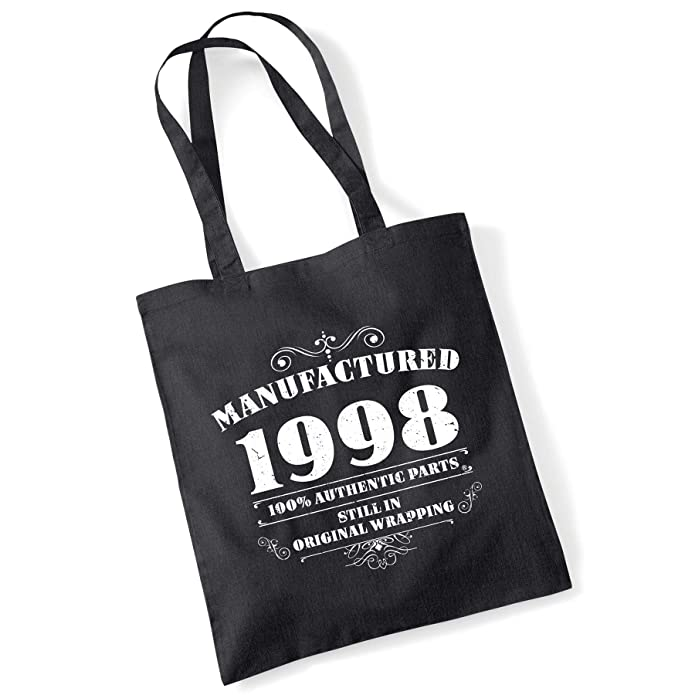 Present Gift BLOWING OUT CANDLES SINCE 1998 21ST BIRTHDAY SHOPPING \ TOTE BAG