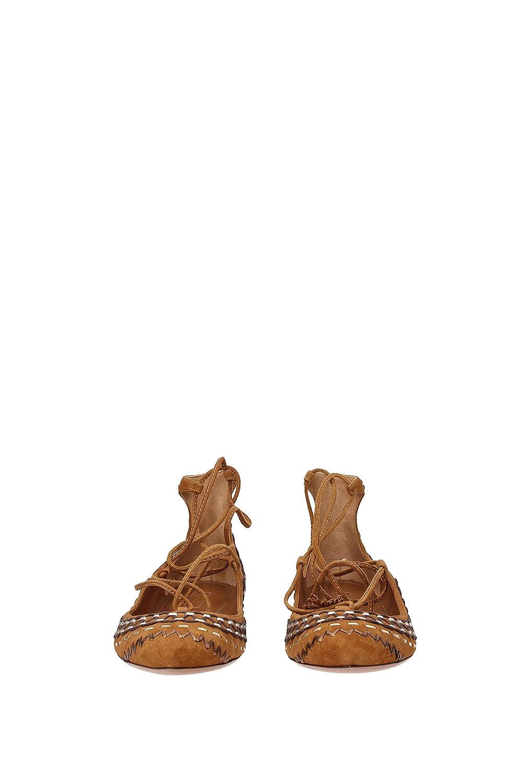 AQUAZZURA Ballerinas Christy Folk Flat EU Damen - Wildleder (CRFFLAT2SNL) EU Flat 0ba671