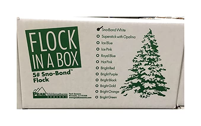 Amazon.com: Christmas Tree Snow Flock, 5 Pound Sno-Bond Flock in a Box:  Home & Kitchen - Amazon.com: Christmas Tree Snow Flock, 5 Pound Sno-Bond Flock In A