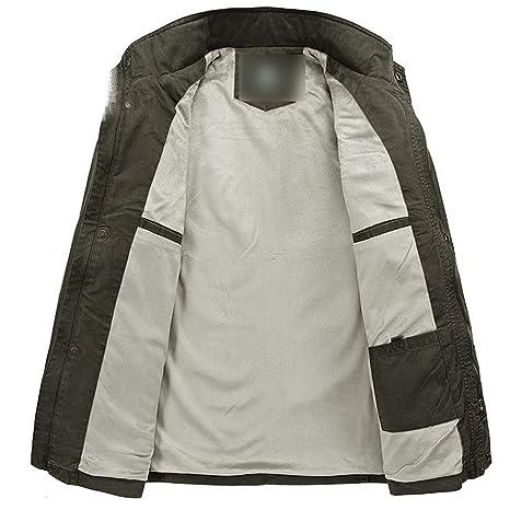Amazon.com: Jacket Thick Fleece Winter Jacket Men Army Military Jackets Many Pockets Chaqueta Hombre: Clothing