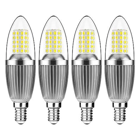 gezee LED vela bombillas e14 12 W 4000 K luz blanca 100 W bombillas incandescentes equivalente