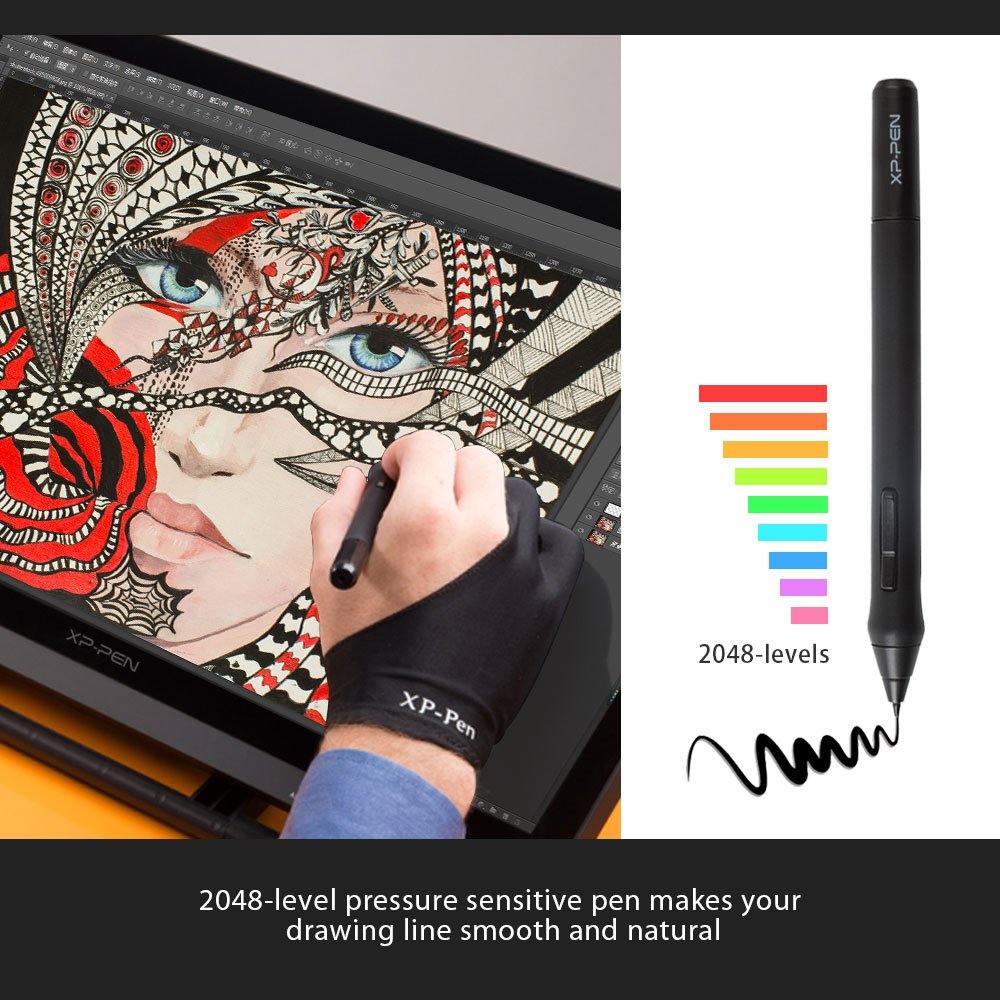 XP-Pen Artist22 22-Inch Pen Display Graphic Monitor IPS Monitor Drawing  Tablet Dual Monitor