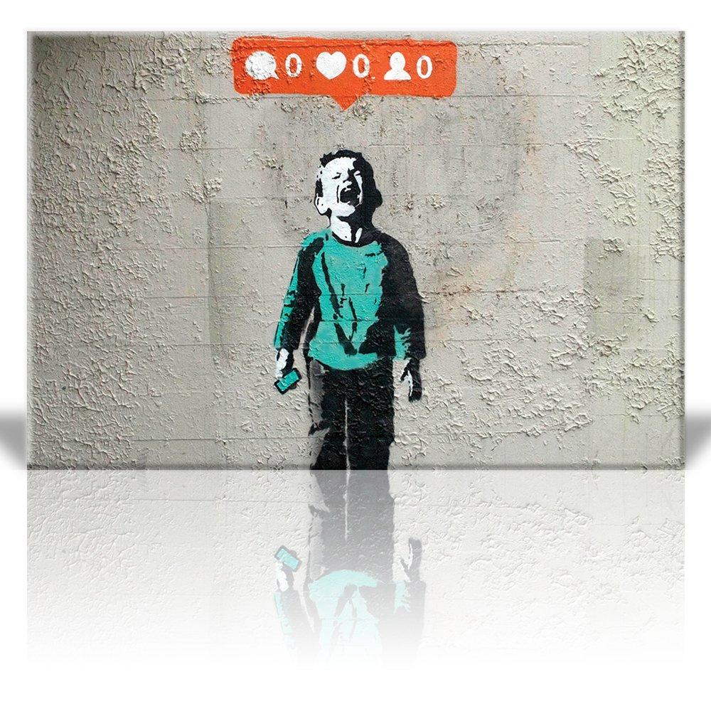 Wall26 - Canvas Print Wall Art - Nobody likes me - Kid screams no instagram credit - Street Art - Guerilla - Banksy Street Artwork on Canvas Stretched ...  sc 1 st  Wall26 & Wall26.com - Art Prints - Framed Art - Canvas Prints - Greeting ...