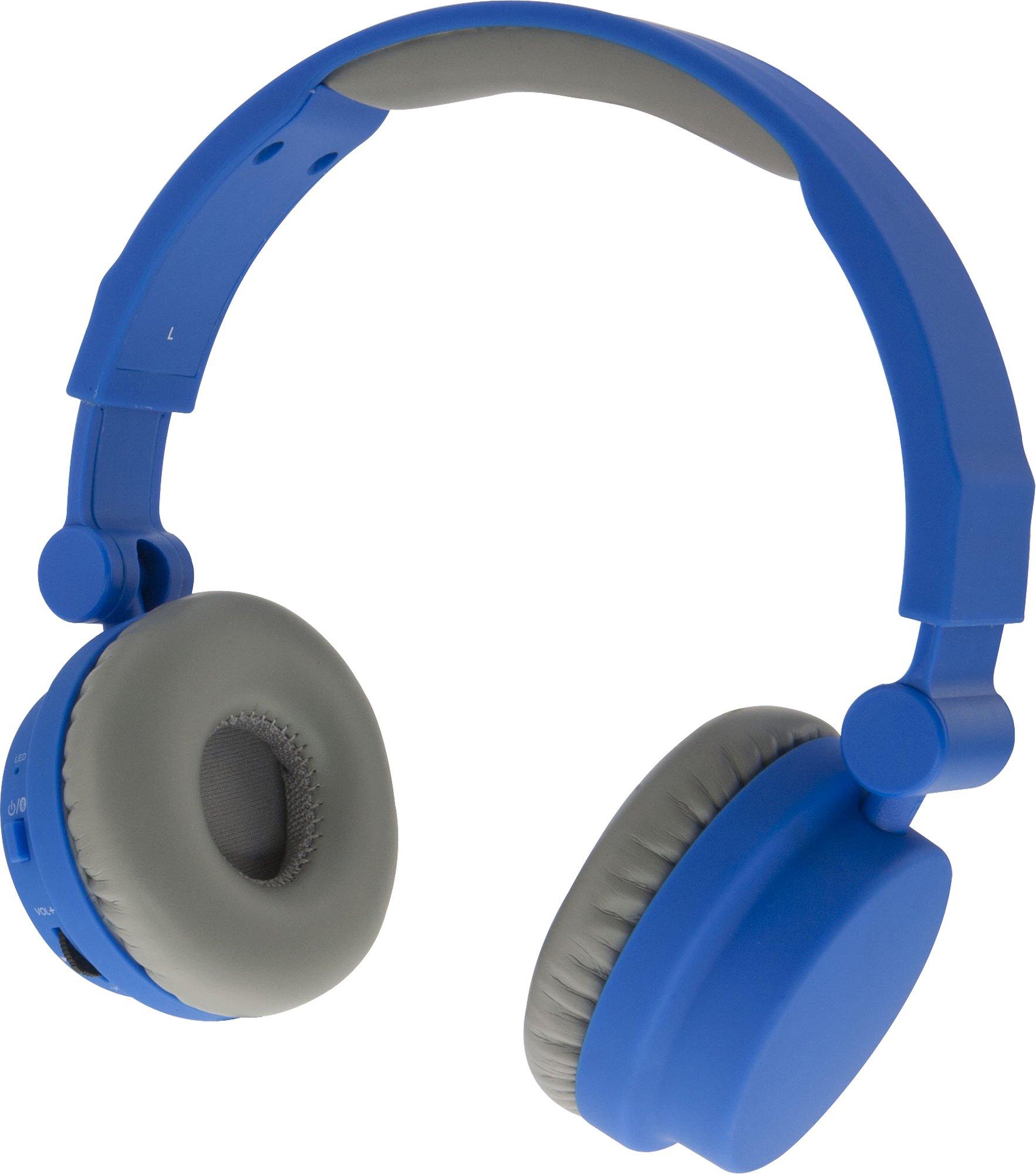 iLive iAHBT45BU On-Ear Wireless Touch Headphones Matte Blue