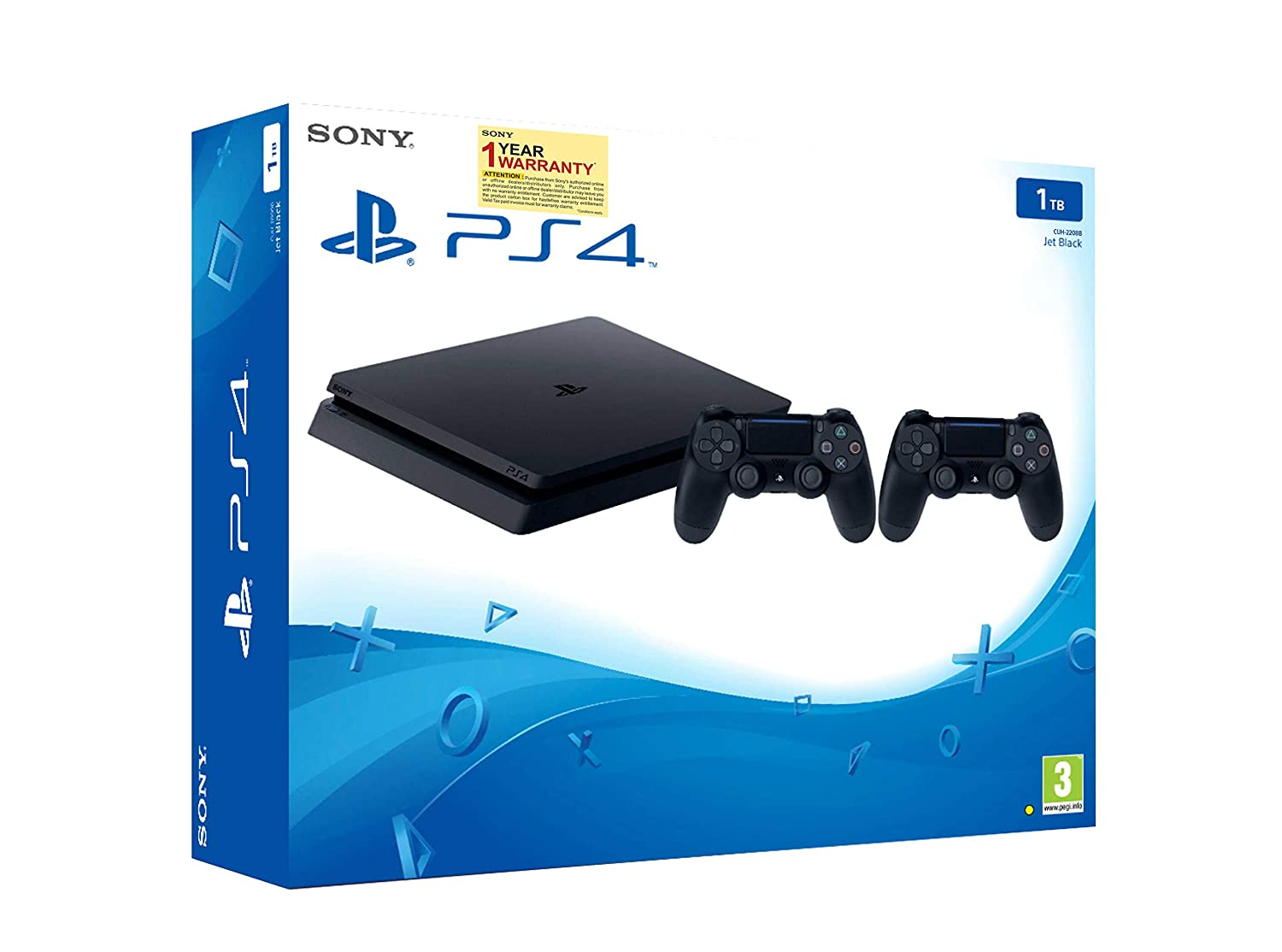 Buy Sony PS4 1TB Slim Console with Additional Dualshock Controller