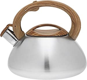 Tea Kettle with Marble Handle Stainless Steel Whistling Teapot - 3.0 Litre