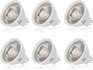 Simba Lighting LED MR16 3.5W 12V Light Bulb (6 Pack) 20W Halogen Spotlight Replacement for Landscape, Accent, Track Lights, Desk Lamps, BAB C, GU5.3 Bipin Base, 5000K Daylight, Not Dimmable