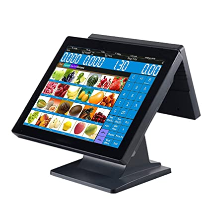 ZHONGJI 15 Inch Double All in One Touch Screen Pos System/Pos Terminal/Cash