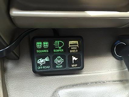 Fantastic Amazon Com Iztoss Dc 12V Control Switch Panel With Wiring Kit Wiring Cloud Ratagdienstapotheekhoekschewaardnl