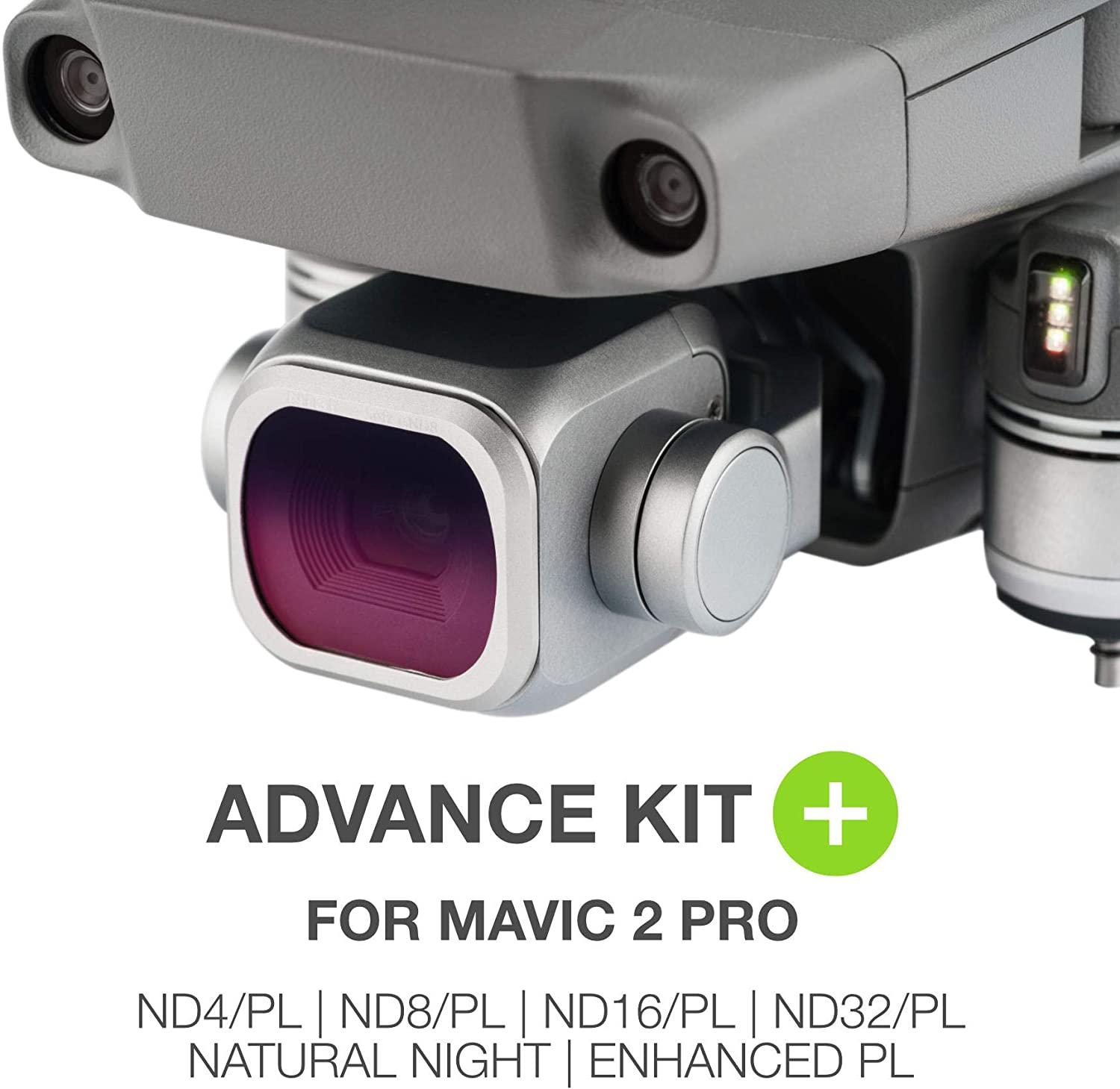 NiSi Advance Kit+ for Mavic 2 Pro including ND4//PL a Polarizer and Natural Night filter ND16//PL ND8//PL ND32//PL