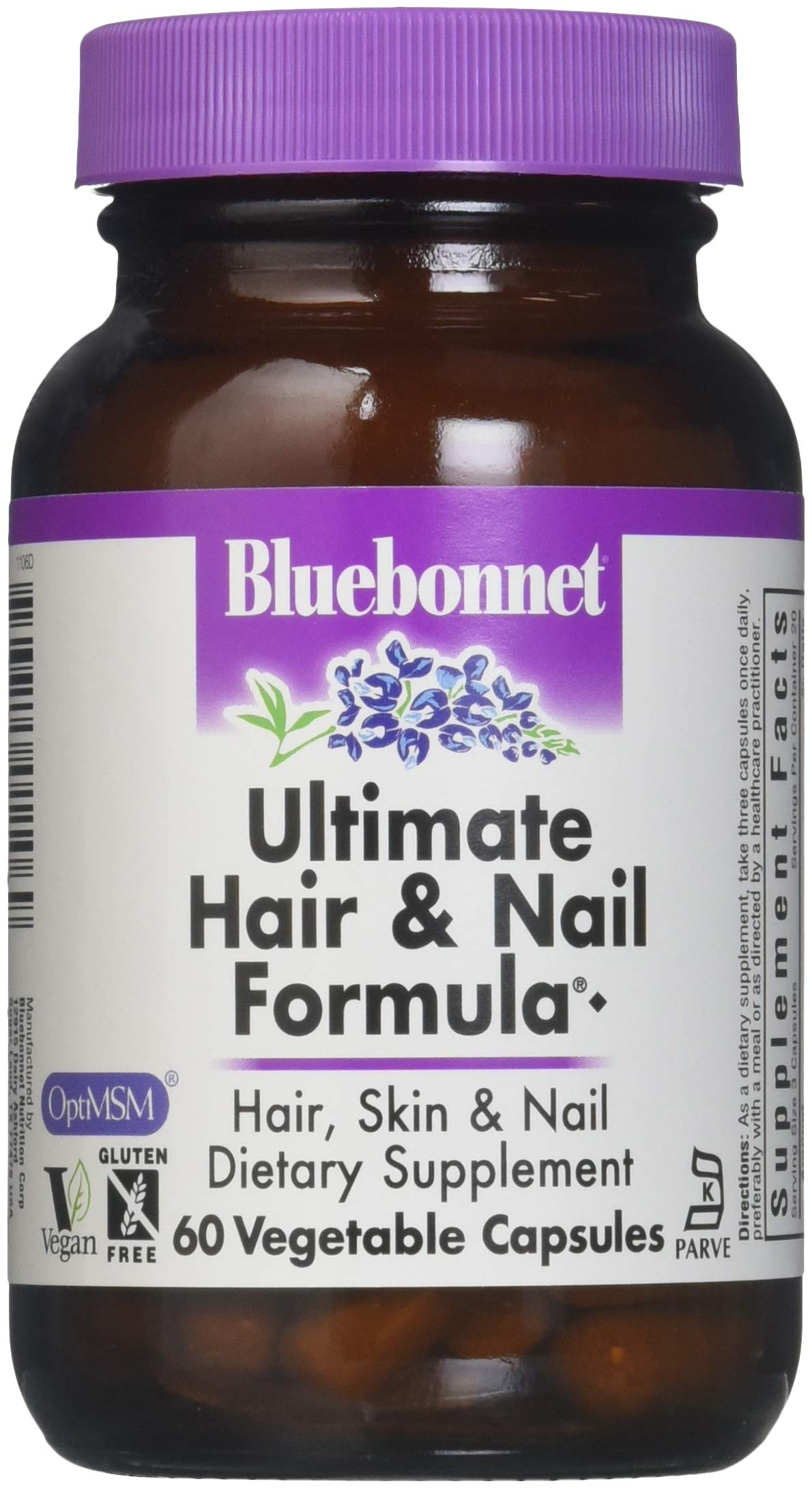 BlueBonnet Ultimate Hair and Nail Formula Supplement, 60 Count