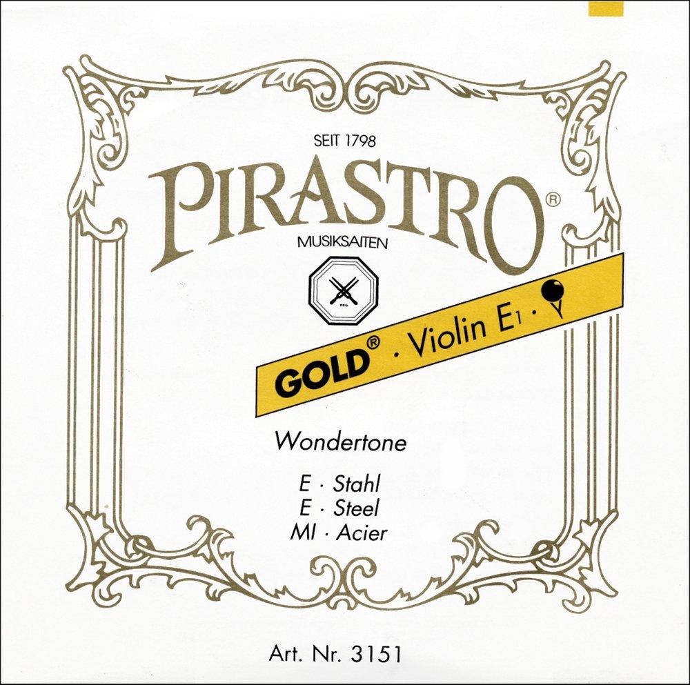 PIRASTRO Gold 4//4 Geige Violin Saiten SATZ E-Kugel oder Schlinge mittel