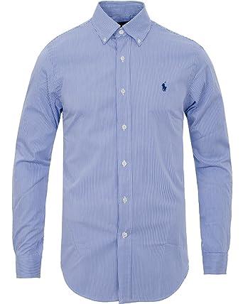 RALPH LAUREN - Chemise Ralph Lauren rayée bleu et blanc pour homme - Bleu,  XXL  Amazon.fr  Vêtements et accessoires 3e3bef53686
