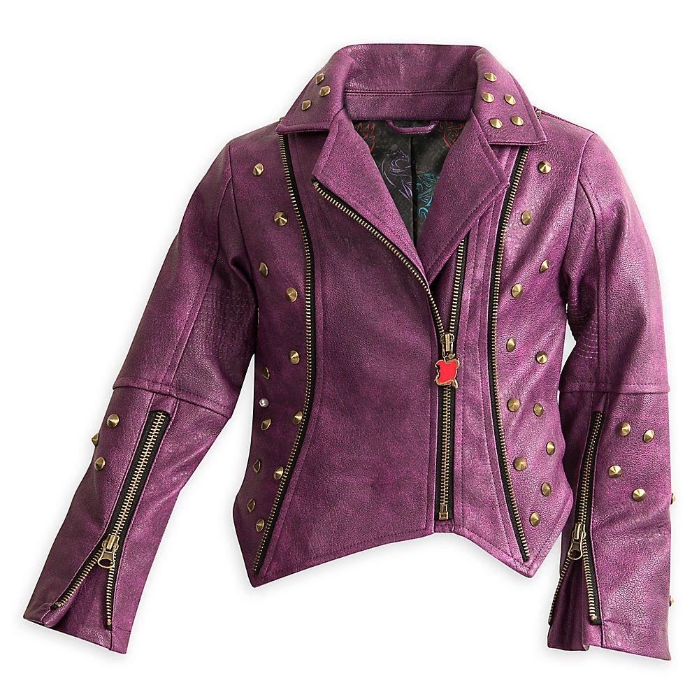 Disney Descendants Faux Leather Moto Jacket for Girls Size 11/12 Purple by Disney