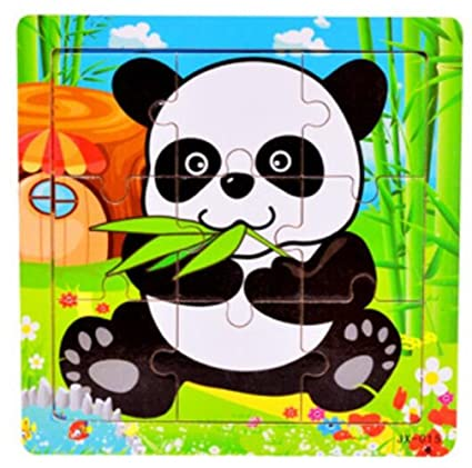 YChoice Educational Puzzle Kids Lovely Wooden Cognitive Peg Puzzle Education Learning Toy Fantastic Gifts Kids(Panda)