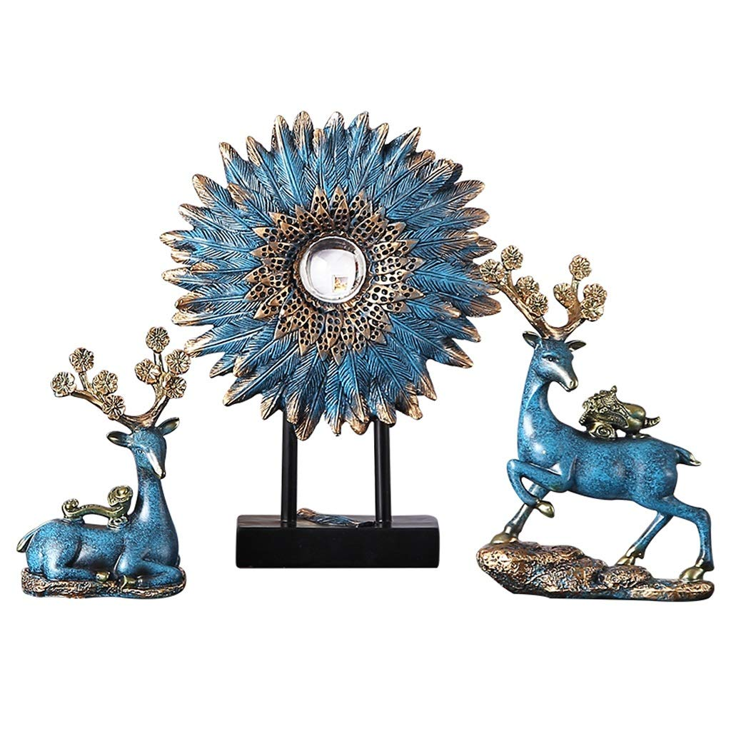 YULAN Creative Modern Light Luxury Feng Shui Lucky Soft Decoration Furnishings Living Room American Home Decoration Ornaments