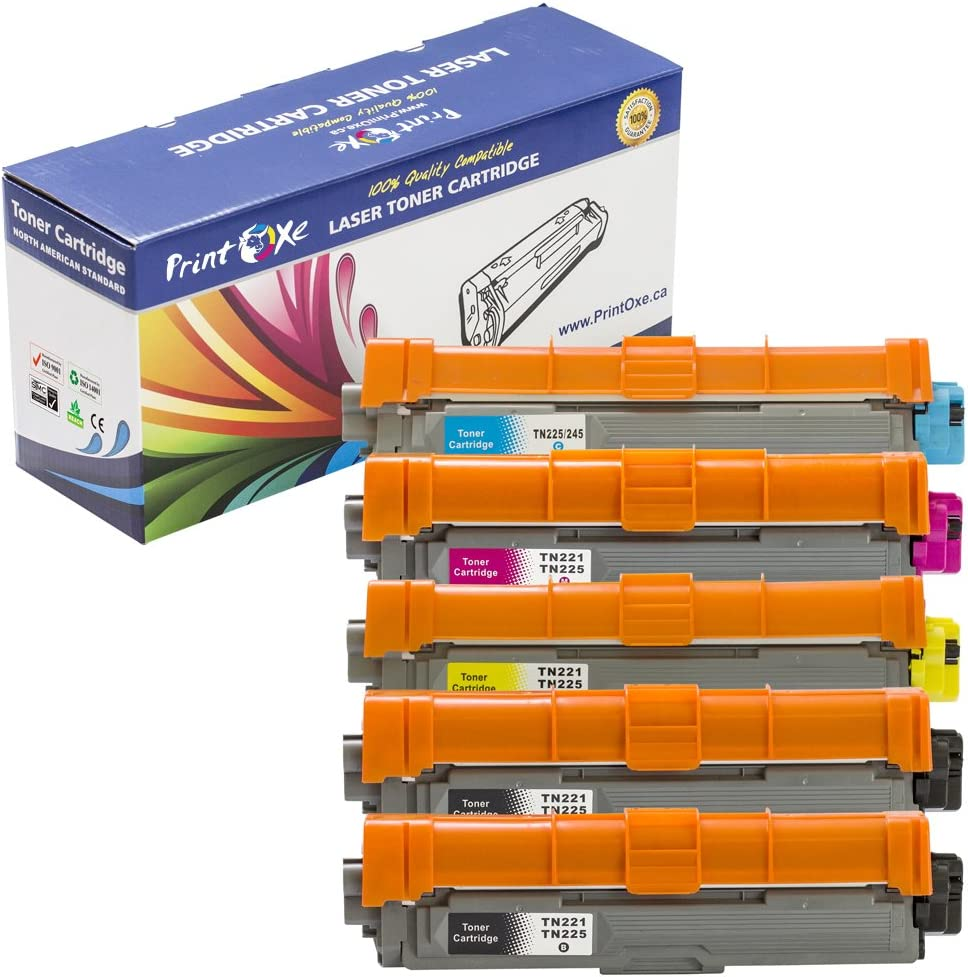 2 Black for TN221 /& TN225 for Brother HL-3140CW 3 Black, 1 Cyan, 1 Magenta, and 1 Yellow PrintOxe/™ Compatible 6 PK for TN-221 /& TN-225 Laser Toners MFC-9330 CDW HL-3170CDW MFC-9340 CDW Set MFC-9130CW