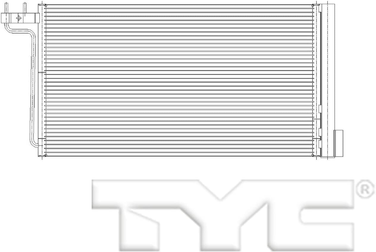 TYC 4914 Max 79% OFF Replacement Ford Fees free Condenser Focus