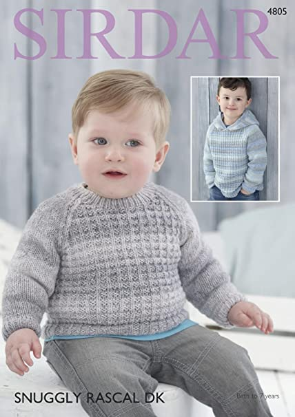 0ec906a96e16 Sirdar 4805 Knitting Pattern Baby Boy s Sweater and Hoodie in Sirdar ...