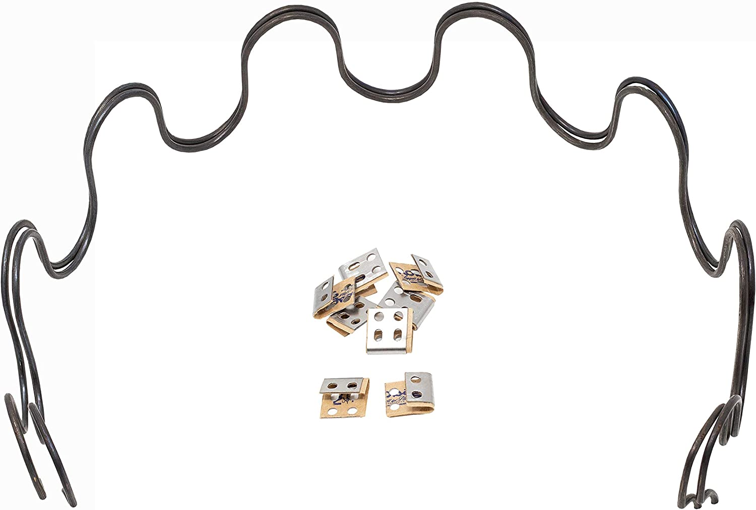 Clips House2Home 27 Sofa Upholstery Spring Replacement Kit 4pk Springs Wire for Furniture Chair Couch Repair Includes Instructions