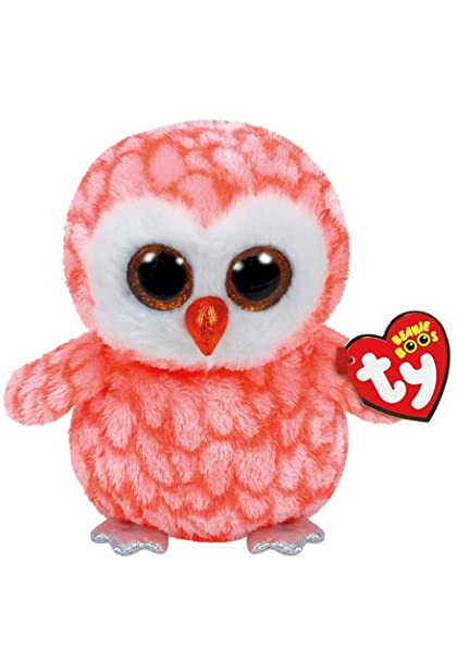 Amazon.com  Ty Beanie Boos Cora - Owl (Justice Exclusive)  Toys   Games 687036f26be