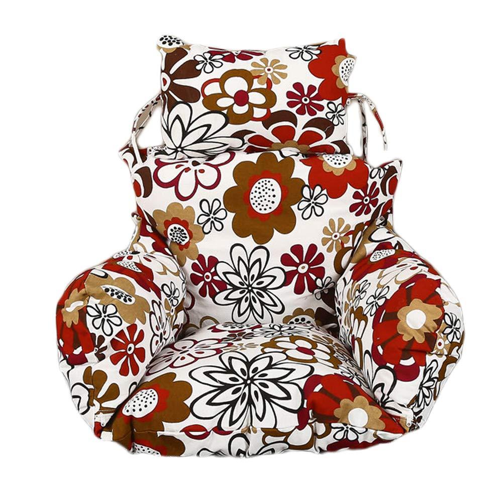 idee-home 激安特価品 ソフトエッグハンモックチェアクッション 椅子なし ひまわり柄スイングシートクッション 厚みのあるネストハンギングチェアバック 開店祝い 枕付き 24インチx29インチ B07R1KXZV5 inches x 28 24 Sunflower1 jjzd1031-sunflower1