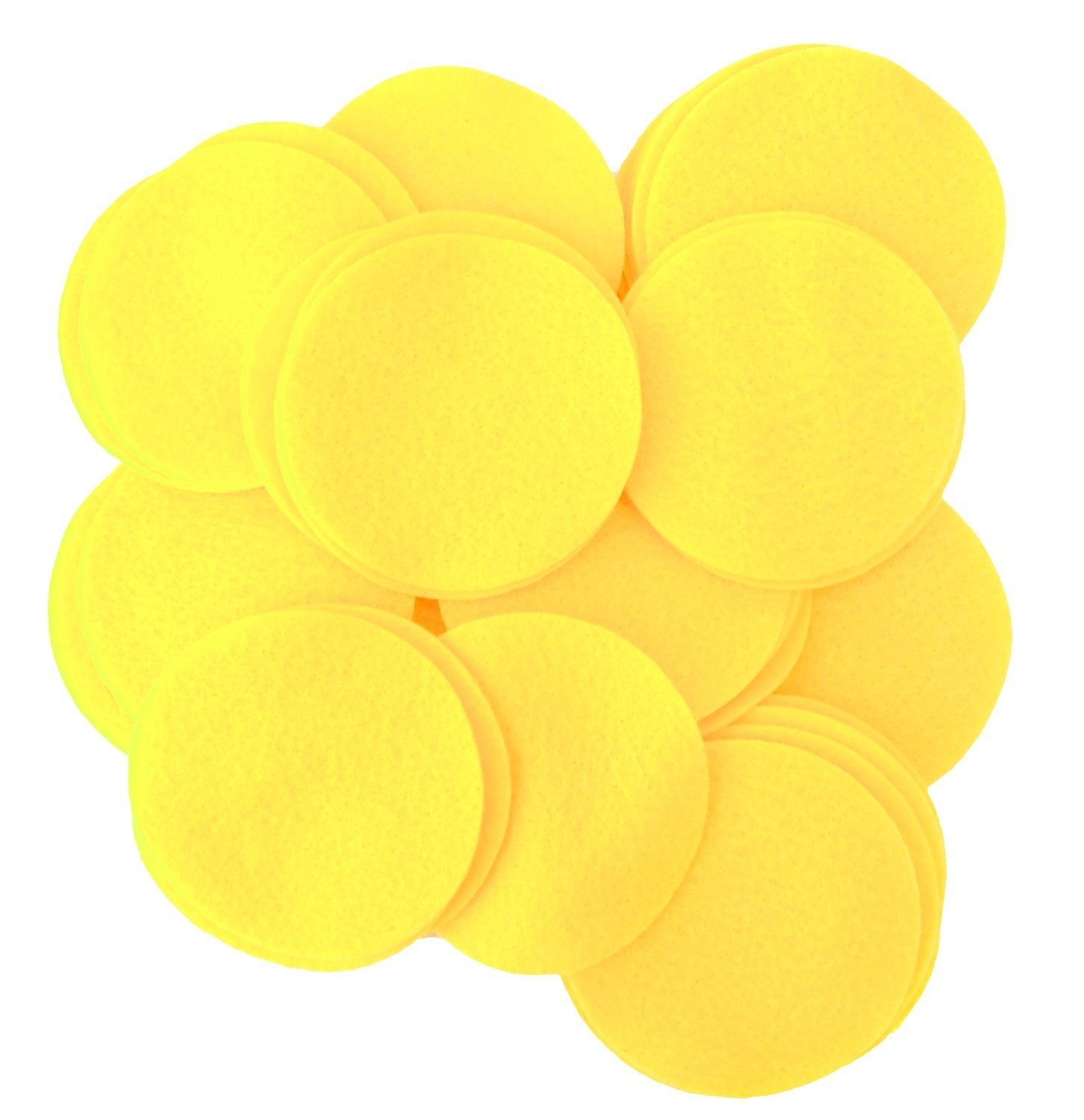 Playfully Ever After 3 Inch Yellow 30pc Felt Circles