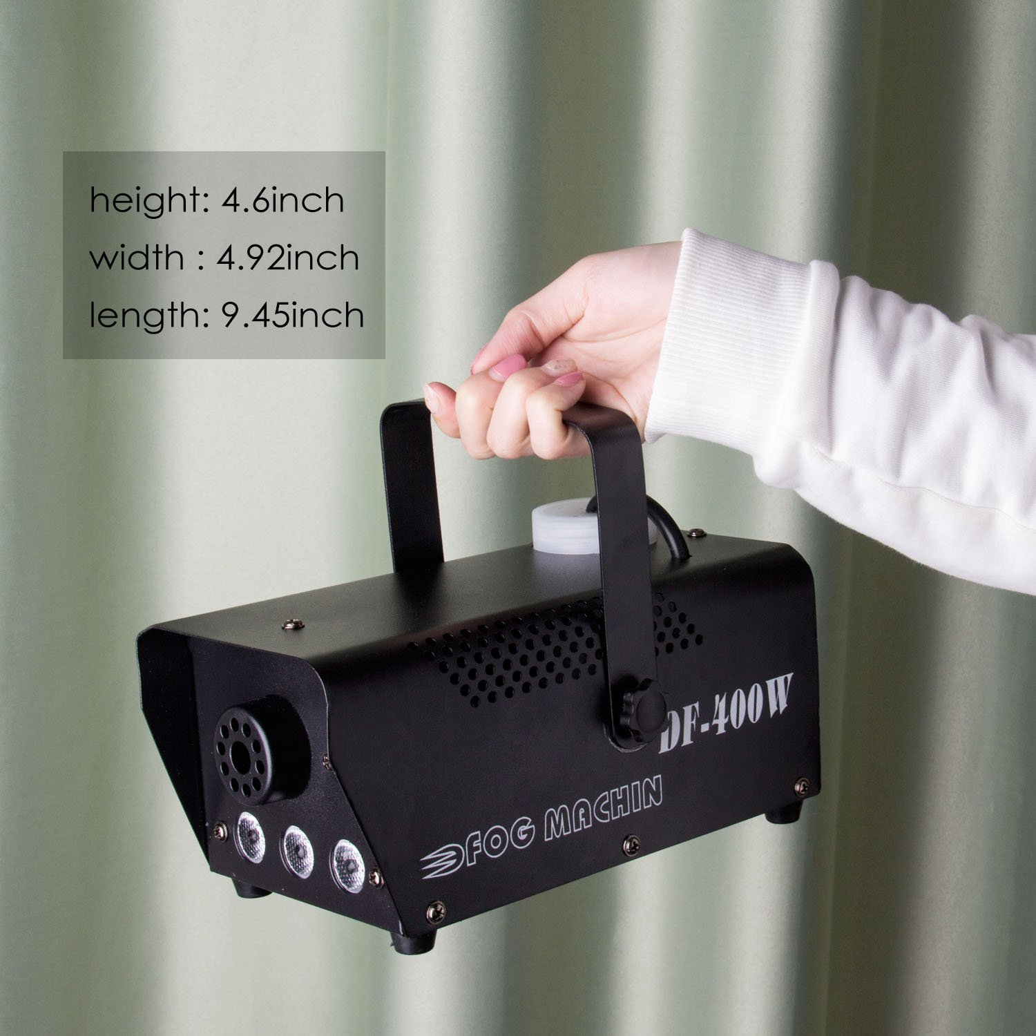 Fog Machine, Miric Smoke Machine Portable with LED Lights Equipped with Wired and Wireless Remote Control for Party, Christmas, Halloween and Weddings (400W) by Miric (Image #6)