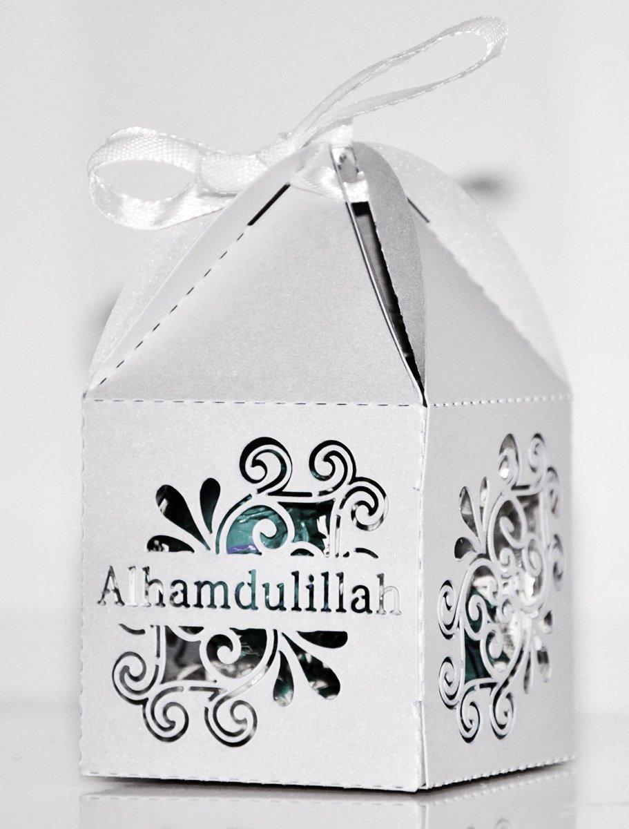 Amazon.com: Zaffron Islamic Wedding or Baby Shower Favor Boxes ...