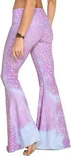 product image for teeki, Women's Bell Bottom, Mermaid Fairyqueen Lavender Pattern