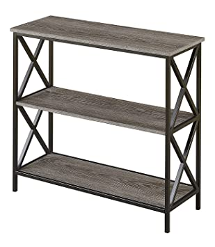 Awe Inspiring Convenience Concepts Tucson 3 Tier Bookcase Weathered Gray Pdpeps Interior Chair Design Pdpepsorg