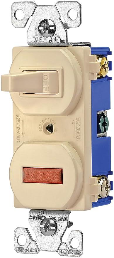 Eaton 277V 15-Amp 120-volt Combination Single Pole Toggle Switch and ...