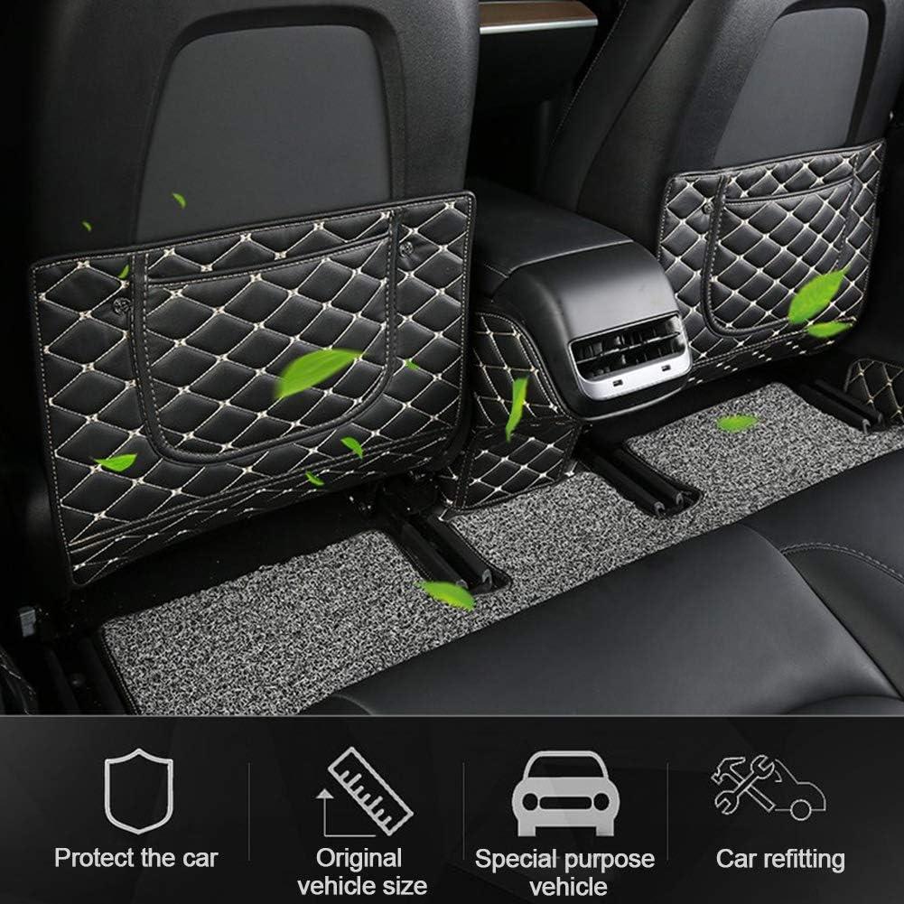 3pcs Anti Kick Mat Accessories Car Back Seat Pad Cover Seat Protector Mat Car Seat Kick Covers for Tesla Model 3