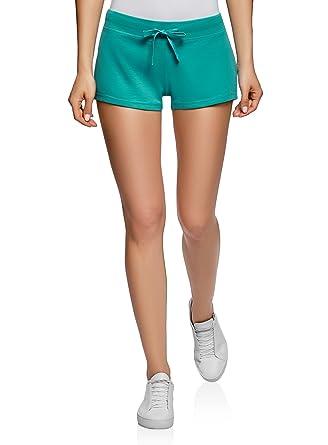 oodji Ultra Damen Basic Jersey-Shorts  Amazon.de  Bekleidung 1fc9e34c3e