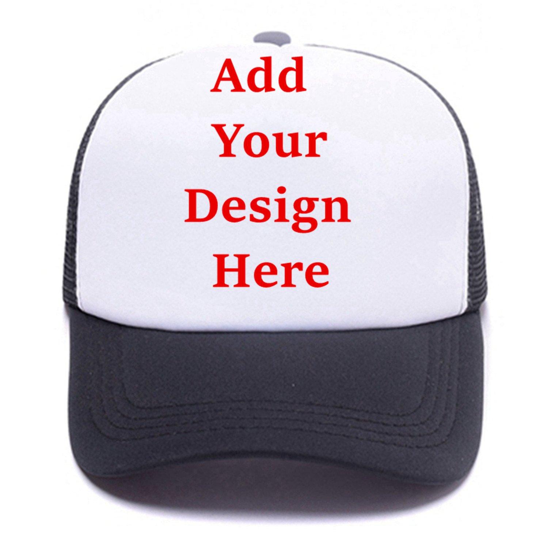 0b40ff61f8c18b Amazon.com: Custom Graphic Printed Trucker Hat Creative Personalized  Snapback Baseball Hats Unisex Funny Mesh Caps Black: Clothing