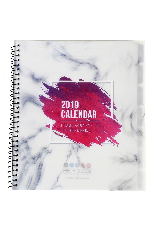 Calendario de 13 meses 2019-2020 con listas de tareas o ...