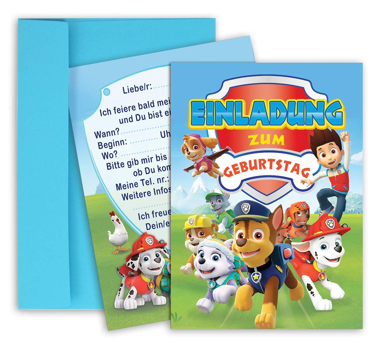 Partydekoration 8 Paw Patrol Hunde Kinder Geburtstag Party Einladungskarten Mit Umschlag Neu Mobel Wohnen Blowmind Com Br
