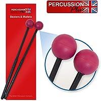 Percussion Plus–Baquetas tamaño mediano pp056para barras de timbre/Glockenspiel