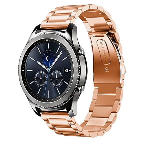 Amazon.com: Samsung Gear S3 Watch Bands, 22mm Stainless ...