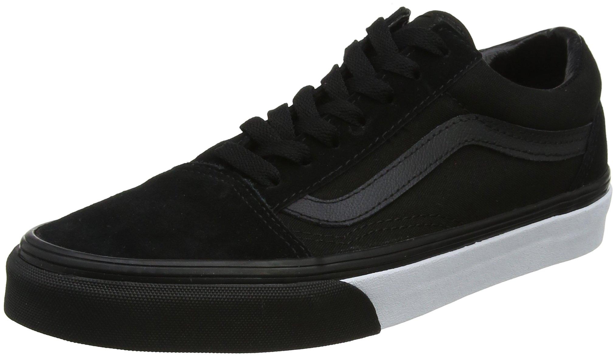 Vans Unisex Adults' Old Skool Trainers, Black ((Mono Bumper) Black/True White Q9C), 8 UK 42 EU