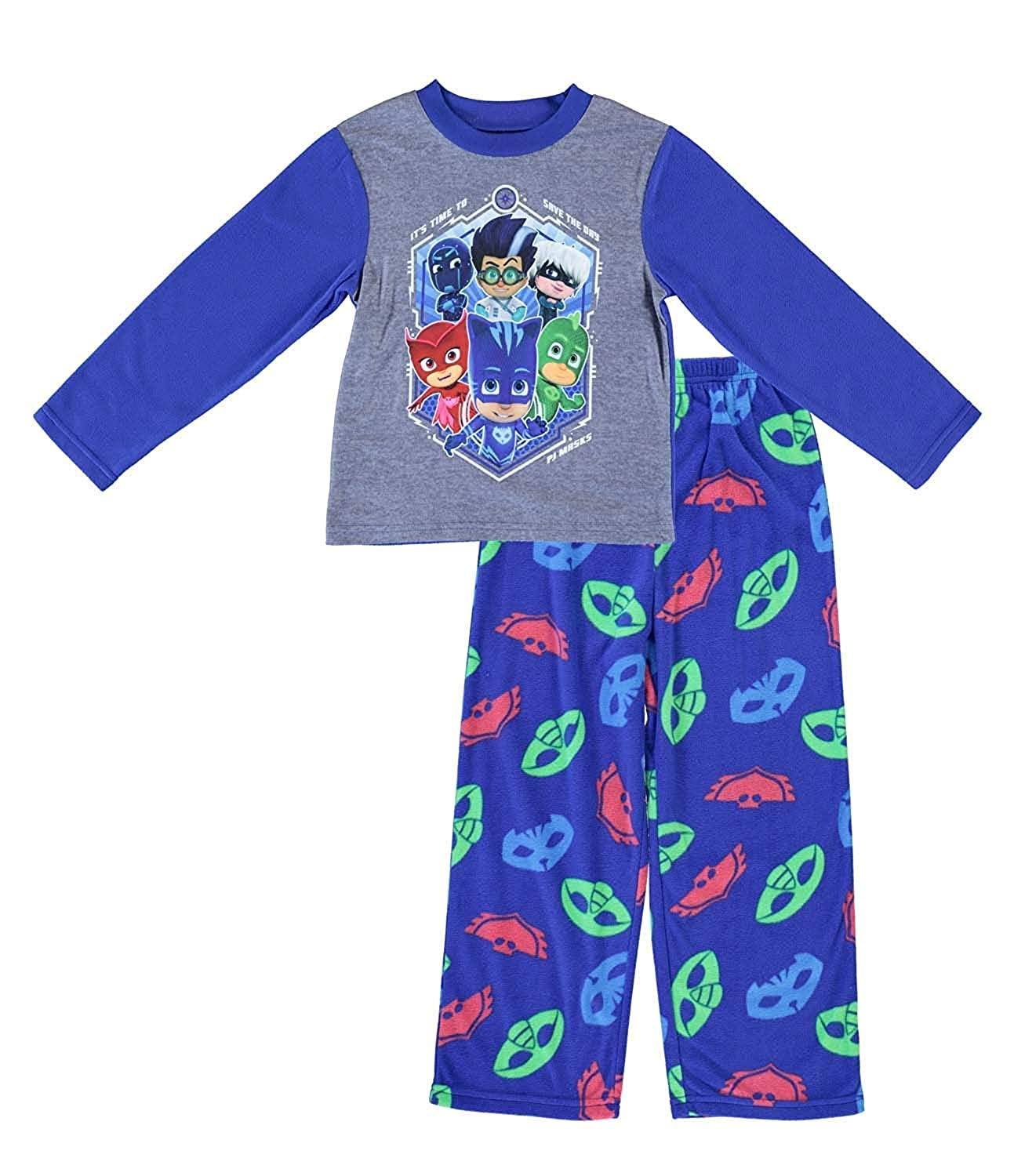 Entertainment One Boys PJ Masks Pajamas 2 Piece Long Sleeve Pajama Set