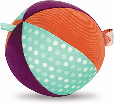 Sensory Toy Activity Toy Soft Fabric Ball Cotton Football with Chiming Bell