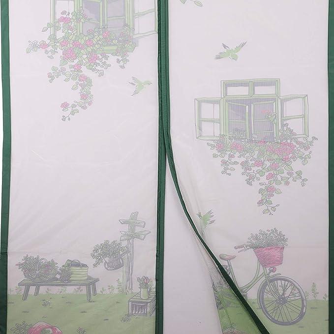 sal/ón Mosquitera magn/ética para puerta de mosquitos mosquitera de malla suave para puertas correderas de balc/ón verde habitaci/ón de los ni/ños