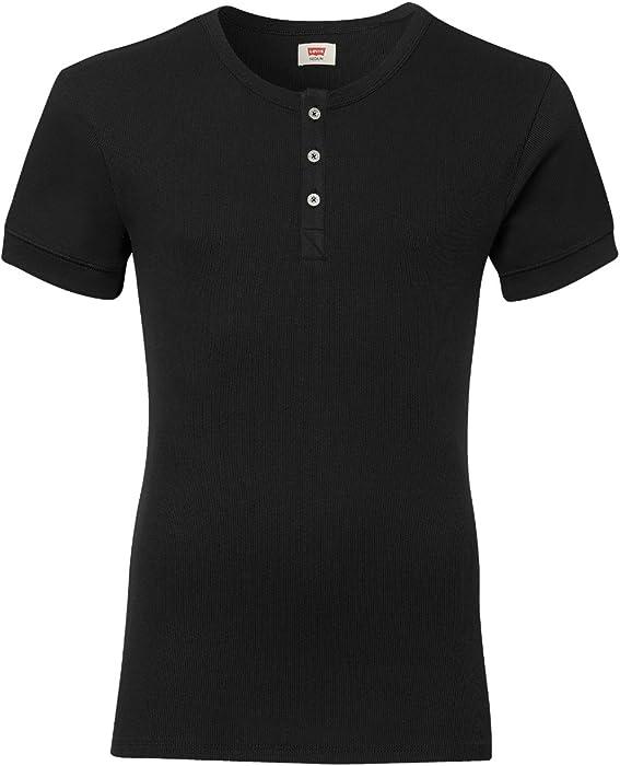 quality design bebc1 1b4d4 LEVIS Herren Rundhals T-Shirt mit Knopfleiste 3er Pack - jet ...